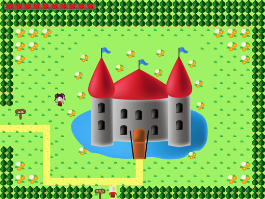the legend of ethos game screenshot castle